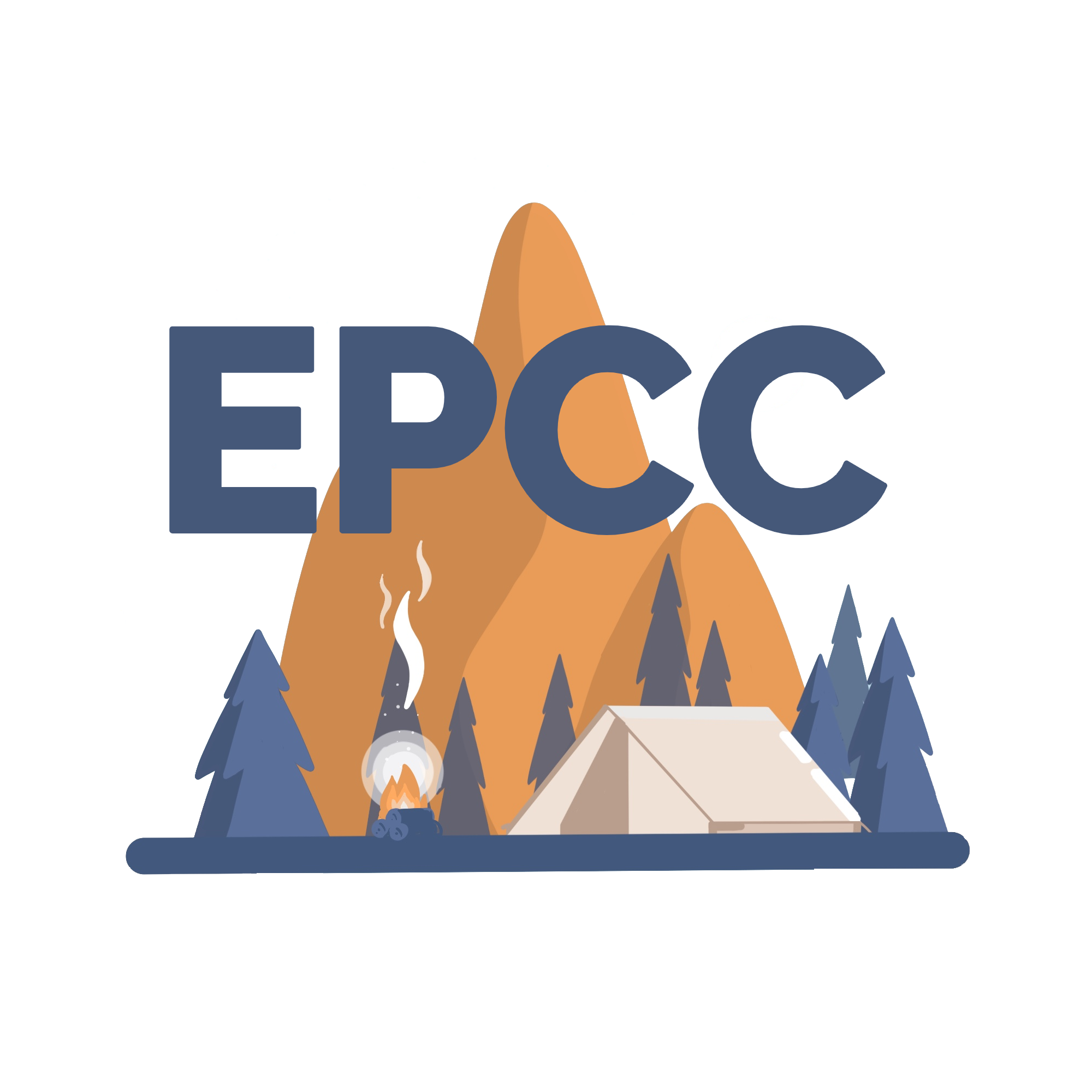 camp logo EPCC blue less thick